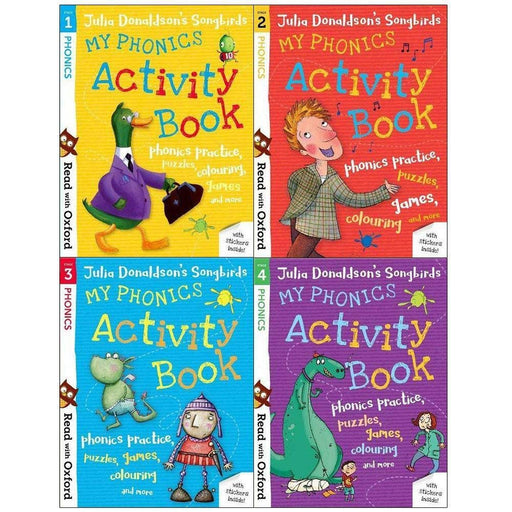 Read With Oxford My Phonics Activity Book (Stage 1 To 4) 4 Books Collection Set - The Book Bundle