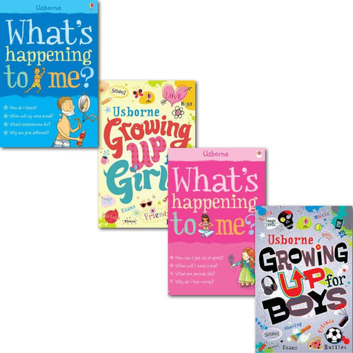 Growing Up for Girls & Boys Whats Happening to Me? 4 Books - Ages 9-14 - Paperback - Usborne - The Book Bundle