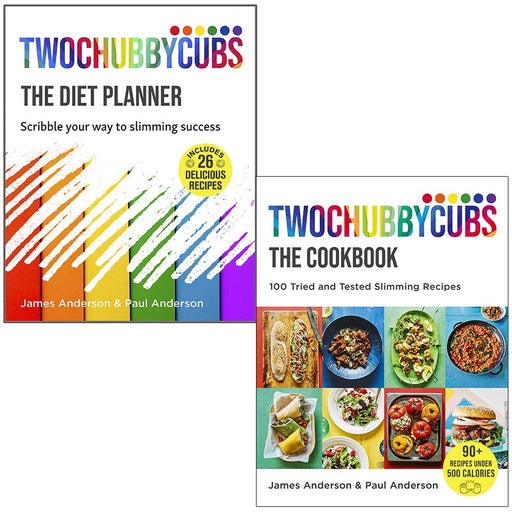 Twochubbycubs The Diet Planner & Twochubbycubs The Cookbook By James and Paul Anderson 2 Books Collection Set - The Book Bundle