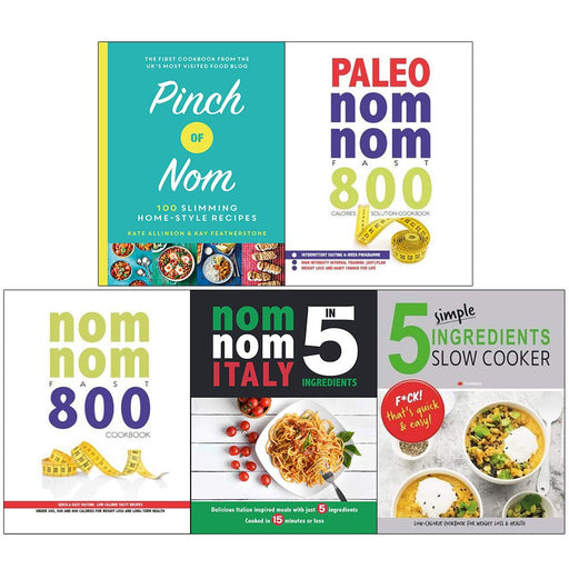 Pinch of Nom, Paleo Nom Nom Fast 800 Cookbook, Nom Nom Italy 5 Books Collection Set - The Book Bundle