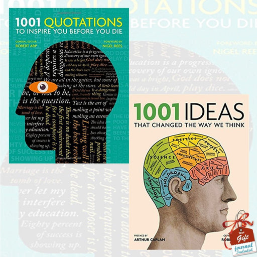 1001 Quotations to inspire you before you die and 1001 Ideas that Changed the Way We Think 2 Books Bundle Collection With Gift Journal - The Book Bundle