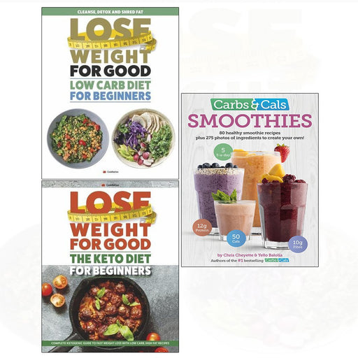 Carbs & cals smoothies, low carb diet, keto diet for beginners 3 books collection set - The Book Bundle
