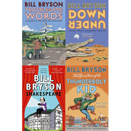 Bill bryson books set series 1:4 books collection Set Paperback NEW - The Book Bundle