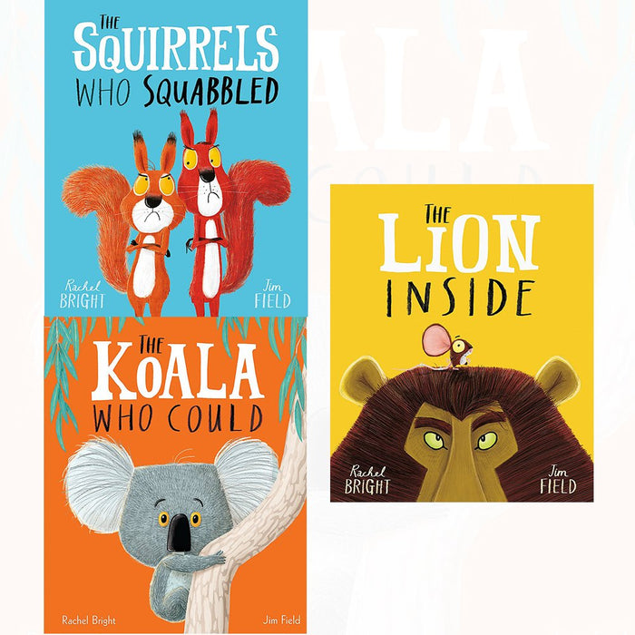 Rachel bright collection squirrels who squabbled, lion inside, koala who could 3 books set - The Book Bundle