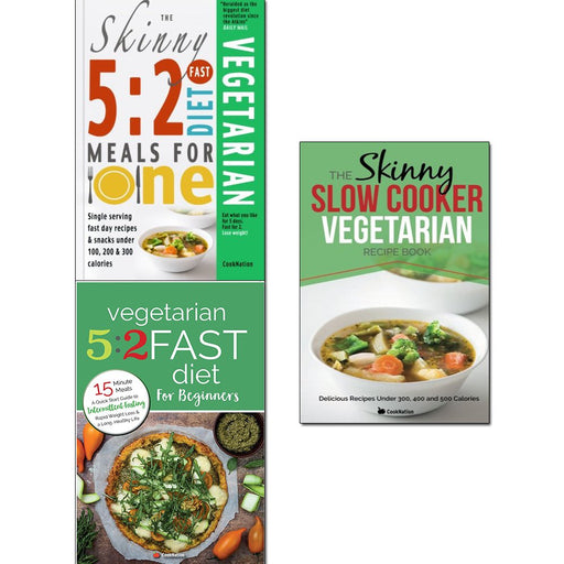 5 2 fast diet vegetarian meals for one, vegetarian 5 2 fast diet and slow cooker vegetarian recipe book 3 books collection set - The Book Bundle