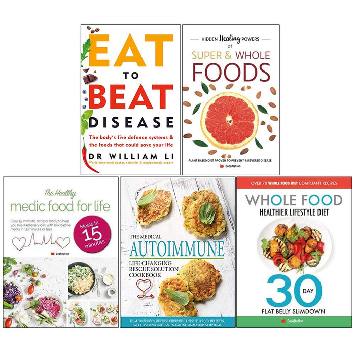 Eat , Hidden Healing , Healthy Medic, Medical Autoimmune, Whole Diet 5 Books Collection Set - The Book Bundle
