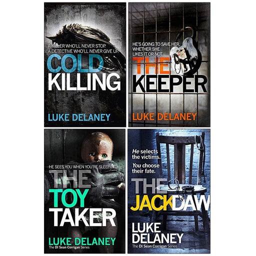 DI Sean Corrigan Series Luke Delaney Collection 4 Books Set (Cold Killing, The Keeper, The Toy Taker, The Jackdaw) - The Book Bundle