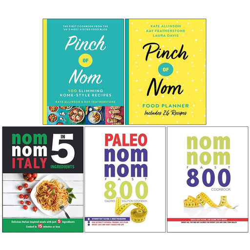 Pinch of Nom, Pinch of Nom, Nom Nom , Paleo Nom Nom , Fasting 5 Books Collection Set - The Book Bundle