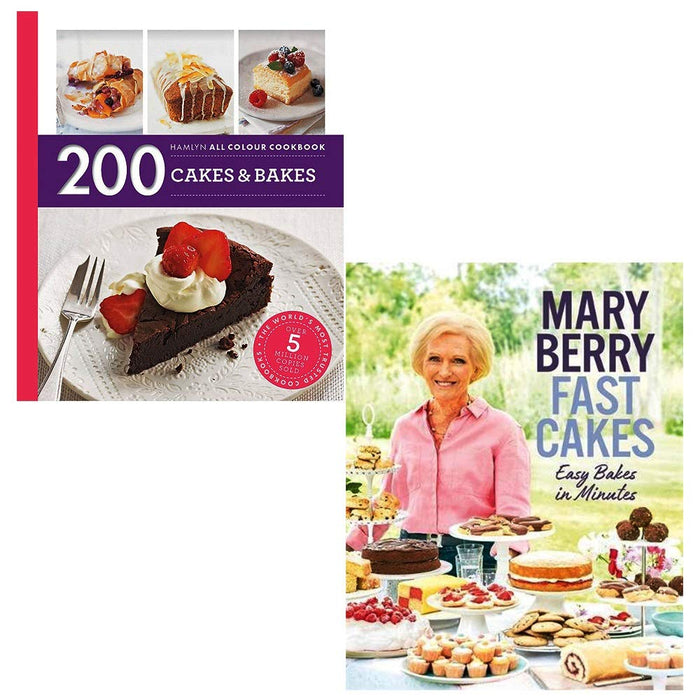 200 cakes and bakes, fast cakes easy bakes in minutes [hardcover] 2 books collection set - The Book Bundle