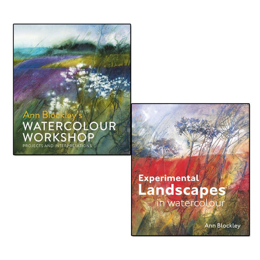 ann blockley 2 books collection set - (watercolour workshop: projects and interpretations,experimental landscapes in watercolour) - The Book Bundle