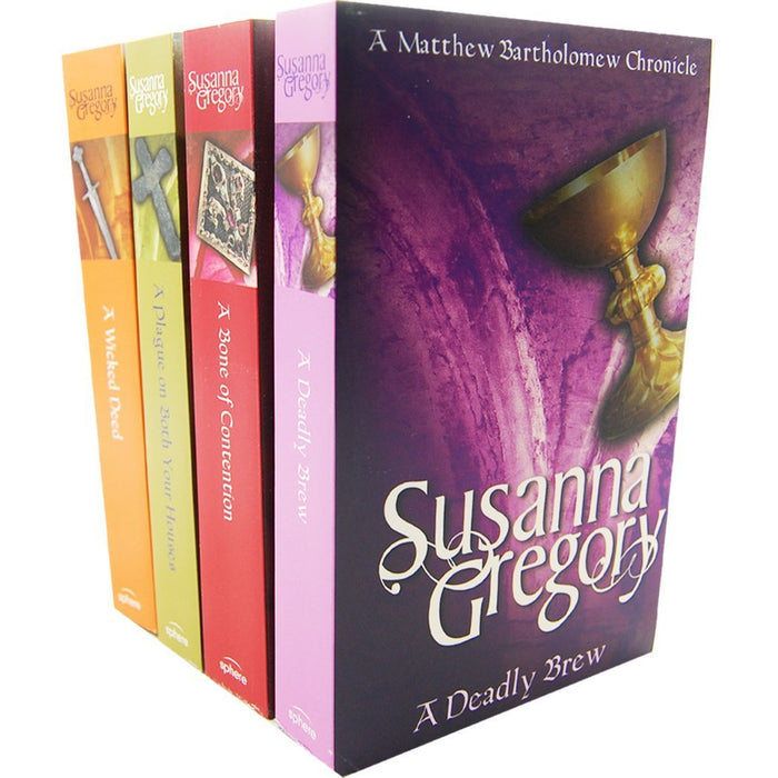 Susanna Gregory The chronicles of Matthew Bartholomew 4 Books Collection Pack Set - The Book Bundle