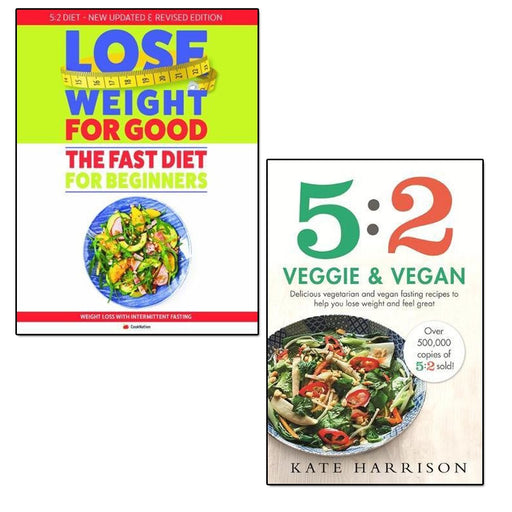 5:2 veggie and vegan and weight loss with intermittent fasting 2 books collection set - The Book Bundle