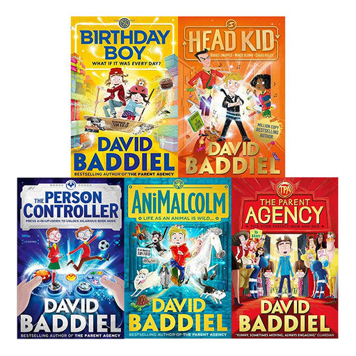 David Baddiel 5 Books Collection Set Person Controller Birthday Boy AniMalcolm - The Book Bundle