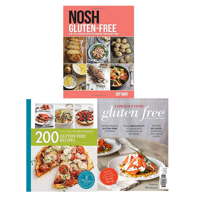 Gluten-Free Recipes 3 Books Collection Set - Nosh Gluten-Free, Gorgeous Food Gluten Free, 200 Gluten-Free Recipes - The Book Bundle