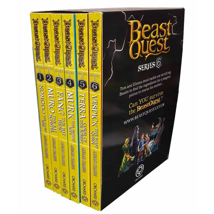 Beast Quest Pack: Series 6, 6 books, RRP £29.94 (Komodo, Muro, Fang, Murk, Terra, Vespick). (Beast Quest) - The Book Bundle