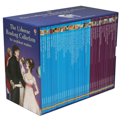 The Usborne Reading Collection for Confident Readers Purple Edition 40 Books Box Set - The Book Bundle