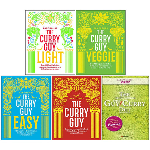 Dan Toombs The Curry Guy and Guy Curry Diet 5 Books Collection Set - The Book Bundle