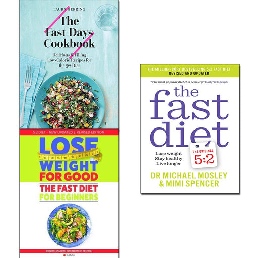 Fast days cookbook[hardcover],diet and lose weight for good for beginners 3 books collection set - The Book Bundle