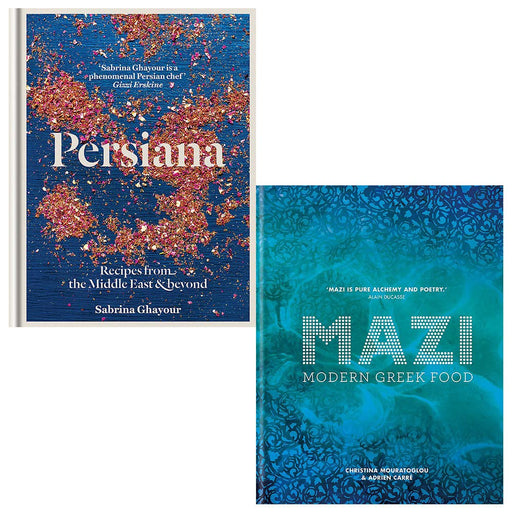 Persiana Recipes From The Middle East & Beyond, Mazi Modern Greek Food 2 Books Collection Set - The Book Bundle