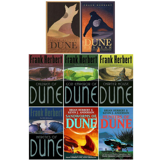 Dune Series 1-8: 8 Books Collection Set By Frank Herbert - The Book Bundle