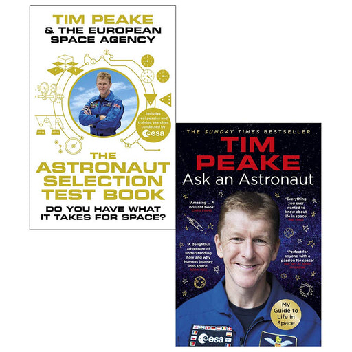 Astronaut selection test book [hardcover], ask an astronaut tim peake collection 2 books set - The Book Bundle