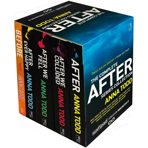 The Complete After Series Collection 5 Books Box Set by Anna Todd (After Ever Happy, After, After We Collided, After We Fell, Before) - The Book Bundle