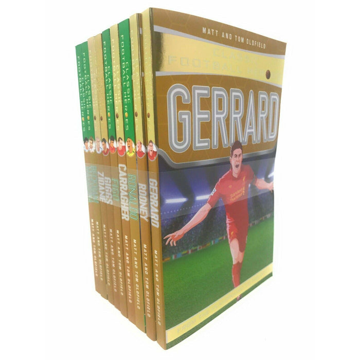 Classic Football Heroes Legend Series Collection 9 Books Set Pack Tom Oldfield - The Book Bundle