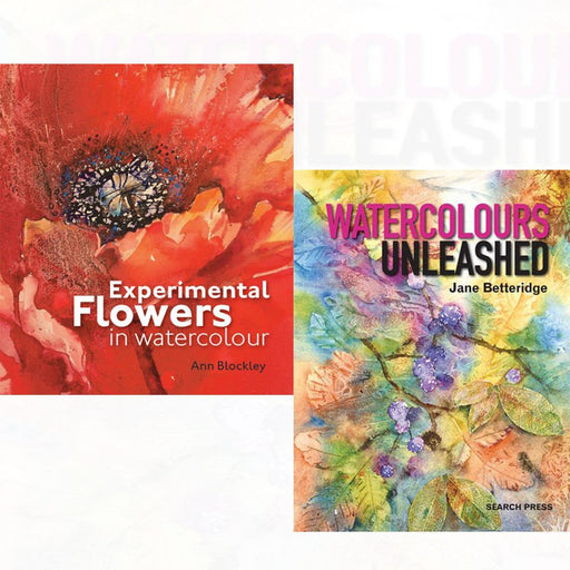 Experimental Flowers in Watercolour [Hardcover], Watercolours Unleashed 2 Books Collection Set - The Book Bundle