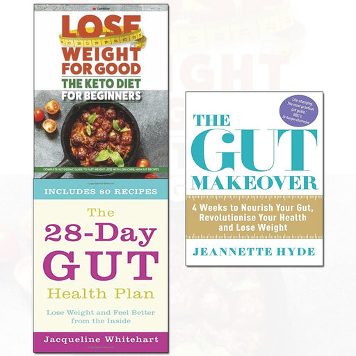 28-day gut health plan,the gut makeover,the keto dieT 3 books collection set - The Book Bundle