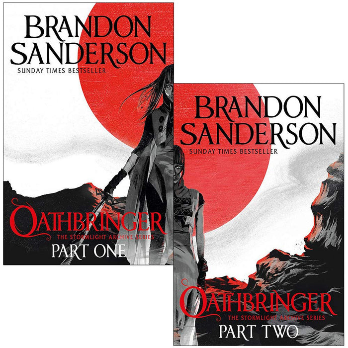 The Stormlight Archive Book Series 2 Books Set By Brandon Sanderson (Oathbringer Part 1 & 2) - The Book Bundle