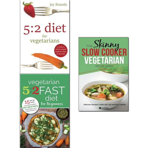 5 2 diet vegetarians, vegetarian 5 2 fast diet and slow cooker vegetarian recipe book 3 books collection set - The Book Bundle