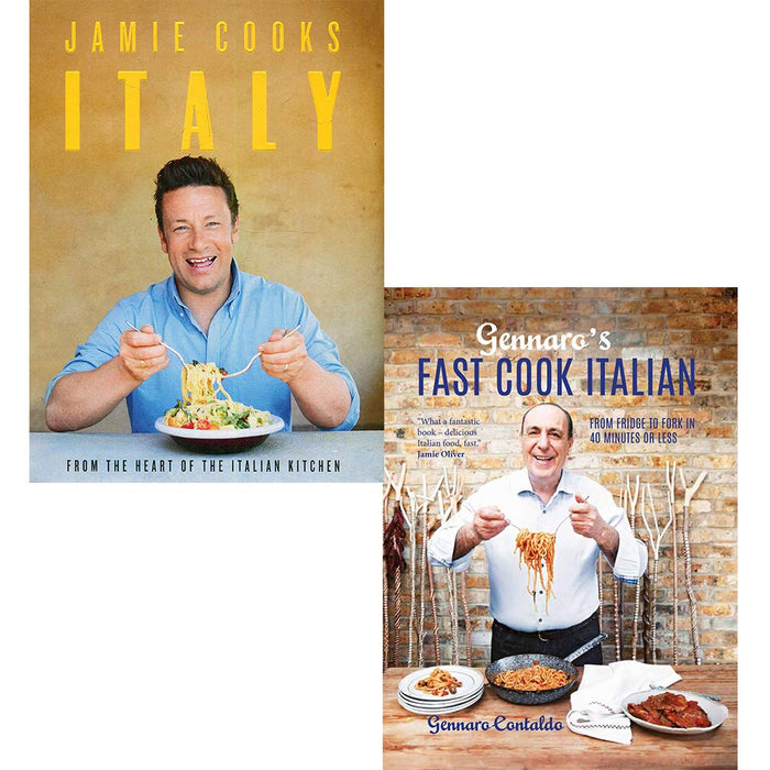 Gennaro's fast cook italian and jamie cooks italy 2 books collection set - The Book Bundle