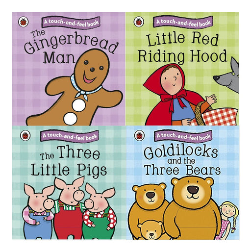 Ladybird Touch and Feel Fairy Tales Collection 4 Books Set - The Book Bundle