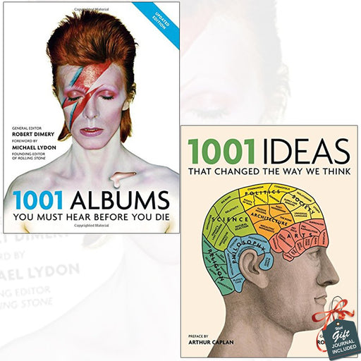 1001 Albums You Must Hear Before You Die and 1001 Ideas that Changed the Way We Think 2 Books Bundle Collection With Gift Journal - The Book Bundle