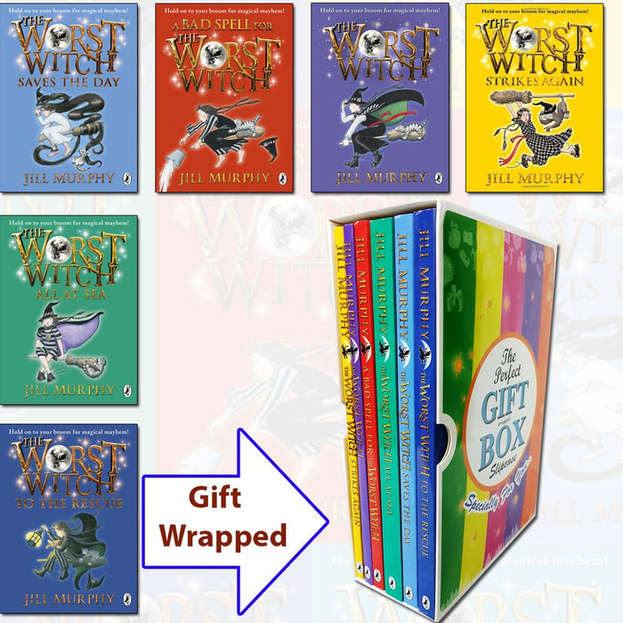 Jill Murphy The Worst Witch Box set 7 Books in Two Gift Wrapped Slipcase inc - The Book Bundle