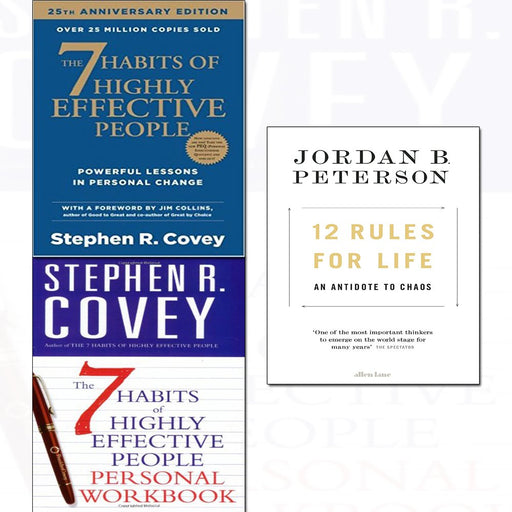 12 rules for life ,7 habits of highly effective people,personal workbook 3 books collection set - The Book Bundle