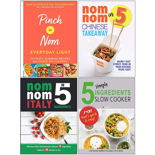 Pinch of Nom Everyday Light [Hardcover], Nom Nom Chinese Takeaway In 5 Ingredients 4 Books Collection Set - The Book Bundle