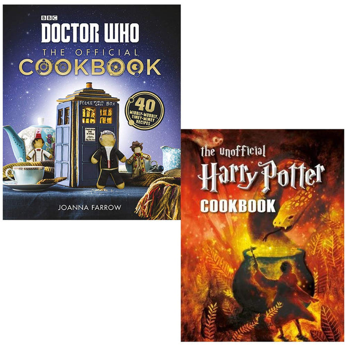 Doctor Who: The Official Cookbook & The Unofficial Harry Potter Cookbook 2 Books Collection Set - The Book Bundle