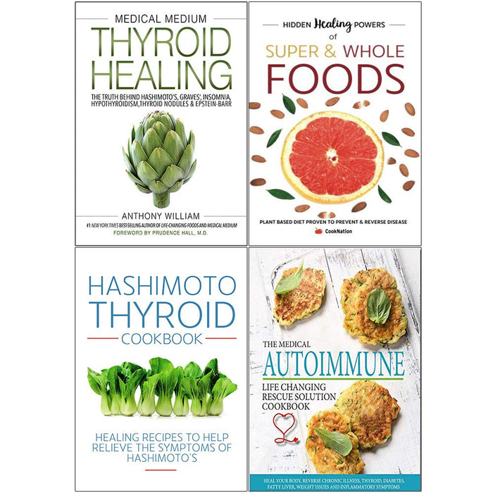Medical Medium, Hidden , Hashimoto , Medical Autoimmune 4 Books Set - The Book Bundle