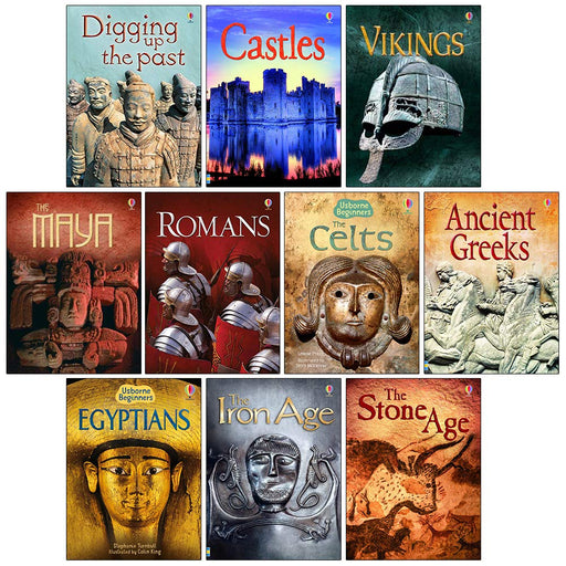 Usborne Beginners History 10 Books Set(Castles,Vikings,Romans,Celts,Anicent Greeks...) - The Book Bundle