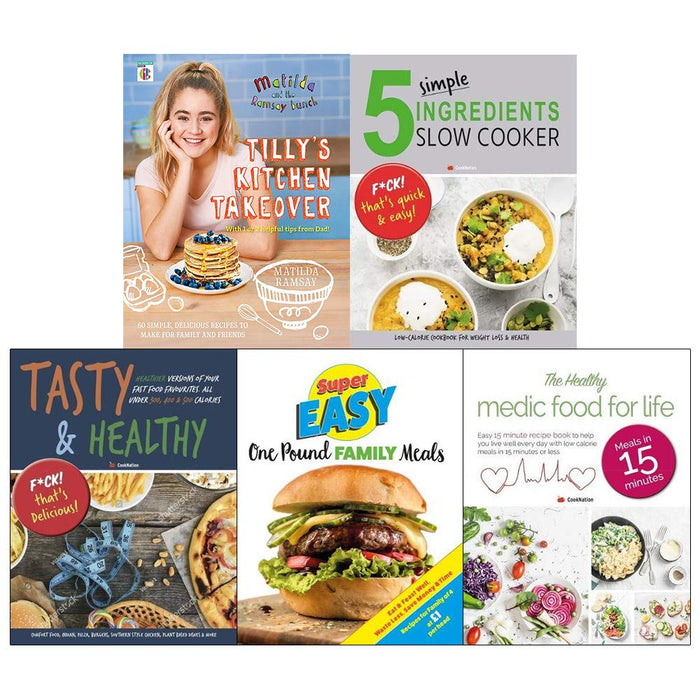Matilda And The Ramsay Bunch [Hardcover], 5 Simple Ingredients Slow Cooker, Tasty And Healthy 5 Books Collection Set - The Book Bundle