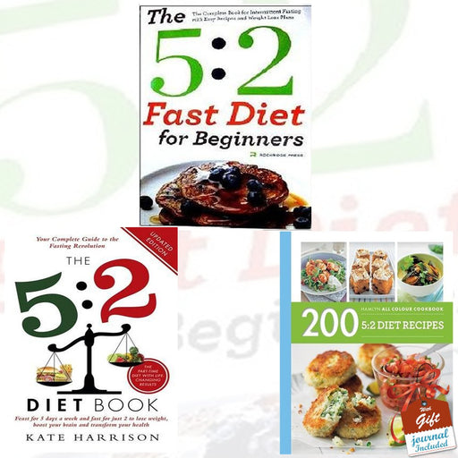 5:2 Diet Collection 3 Books Bundle With Gift Journal - The Book Bundle