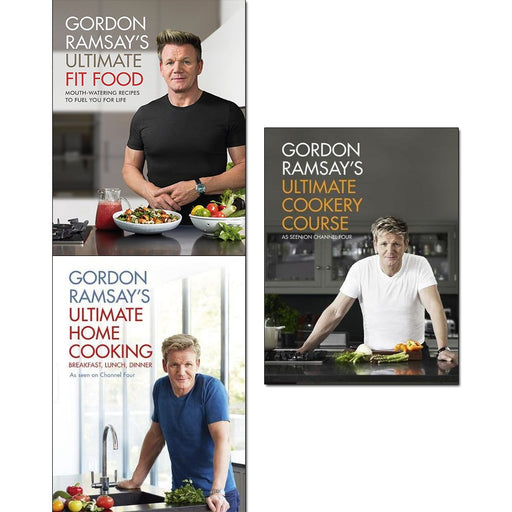 gordon ramsay ultimate fit food, ultimate home cooking and ultimate cookery course collection 3 books set - mouth-watering recipes to fuel you for life - The Book Bundle