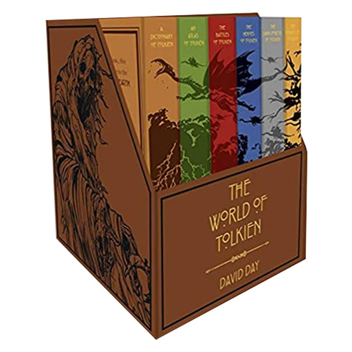 The World of Tolkien Complete 6 Books Collection Box Set by David Day (Dictionary, Atlas, Battles, Heroes, Dark Powers & Hobbits) - The Book Bundle