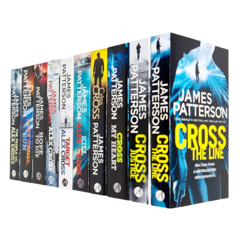 Alex Cross Book Series 10 Books Collection Set by James Patterson (Line, Justice, Criss, Kill) - The Book Bundle