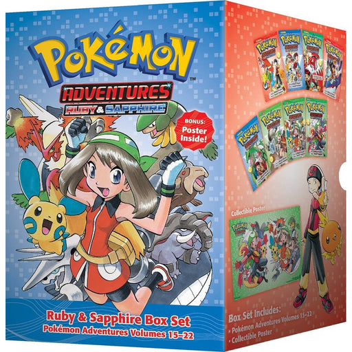 Pokemon Adventures Ruby & Sapphire Box Set 15-22: Includes Volumes 15-22 - The Book Bundle