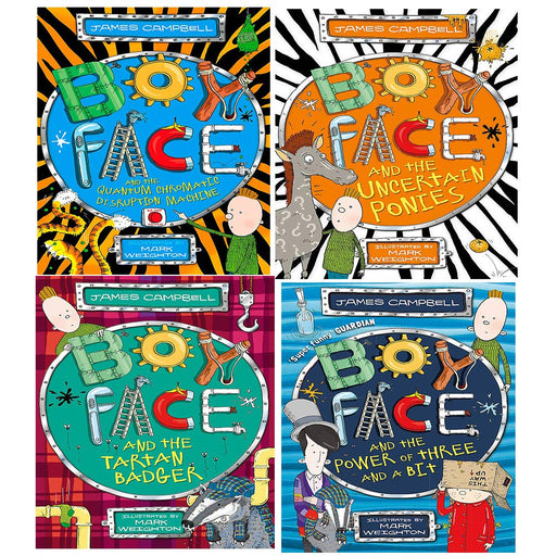 James Campbell Boyface Series Collection 4 Books Set, (Boyface and the Quantum Chromatic Disruption Machine) - The Book Bundle