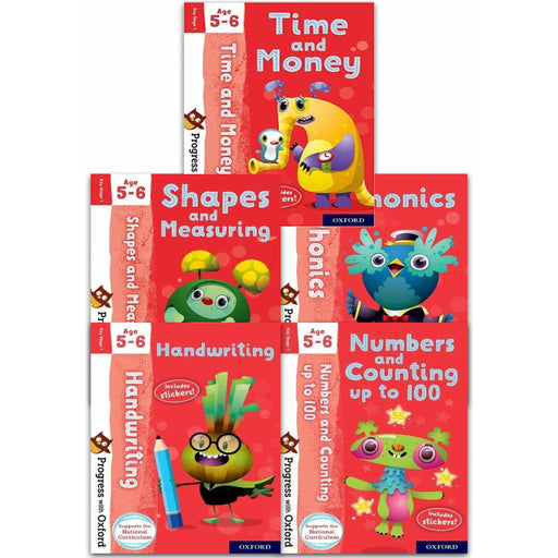 Progress with Oxford Series Collection 5 Books Set (Age 5-6) - The Book Bundle