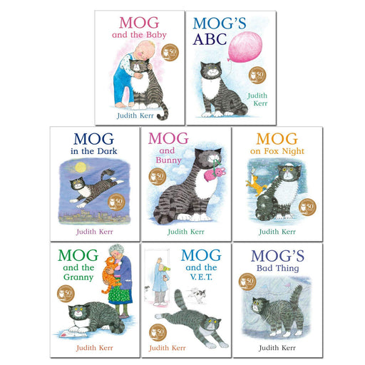 Mog The Cat Books Series 8 Books Collection Set By Judith Kerr (Mog and The Baby, Mog's ABC, Mog in the Dark, Mog and Bunny) - The Book Bundle