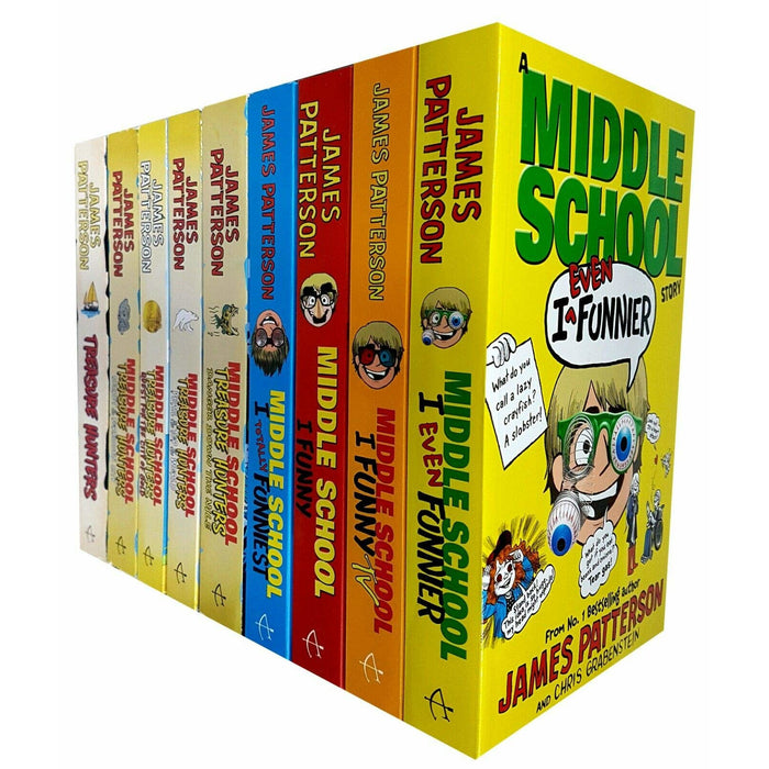 Middle School Funny Series and Treasure Hunters Series 9 Books Collection Set - The Book Bundle